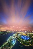 foto of marina  - Singapore Skyline and view of skyscrapers on Marina Bay - JPG