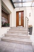 picture of entryway  - Vertical view of entrance to detached house - JPG