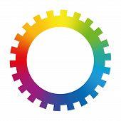 image of color wheel  - Gear cog wheel  - JPG