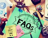 pic of faq  - Faq Frequently Asked Questions Guidance Explanation Concept - JPG