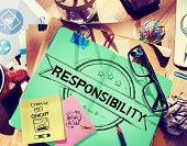 picture of responsibility  - Responsibility Reliability Trust Liability Trustworthy Concept - JPG