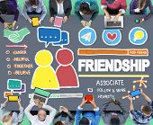 pic of comrades  - Friendship Group People Social Media Loyalty Concept - JPG