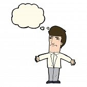 pic of annoyance  - cartoon annoyed boss with thought bubble - JPG