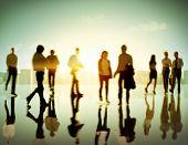 picture of pedestrians  - Business People Commuter Corporate Cityscape Pedestrian Concept - JPG