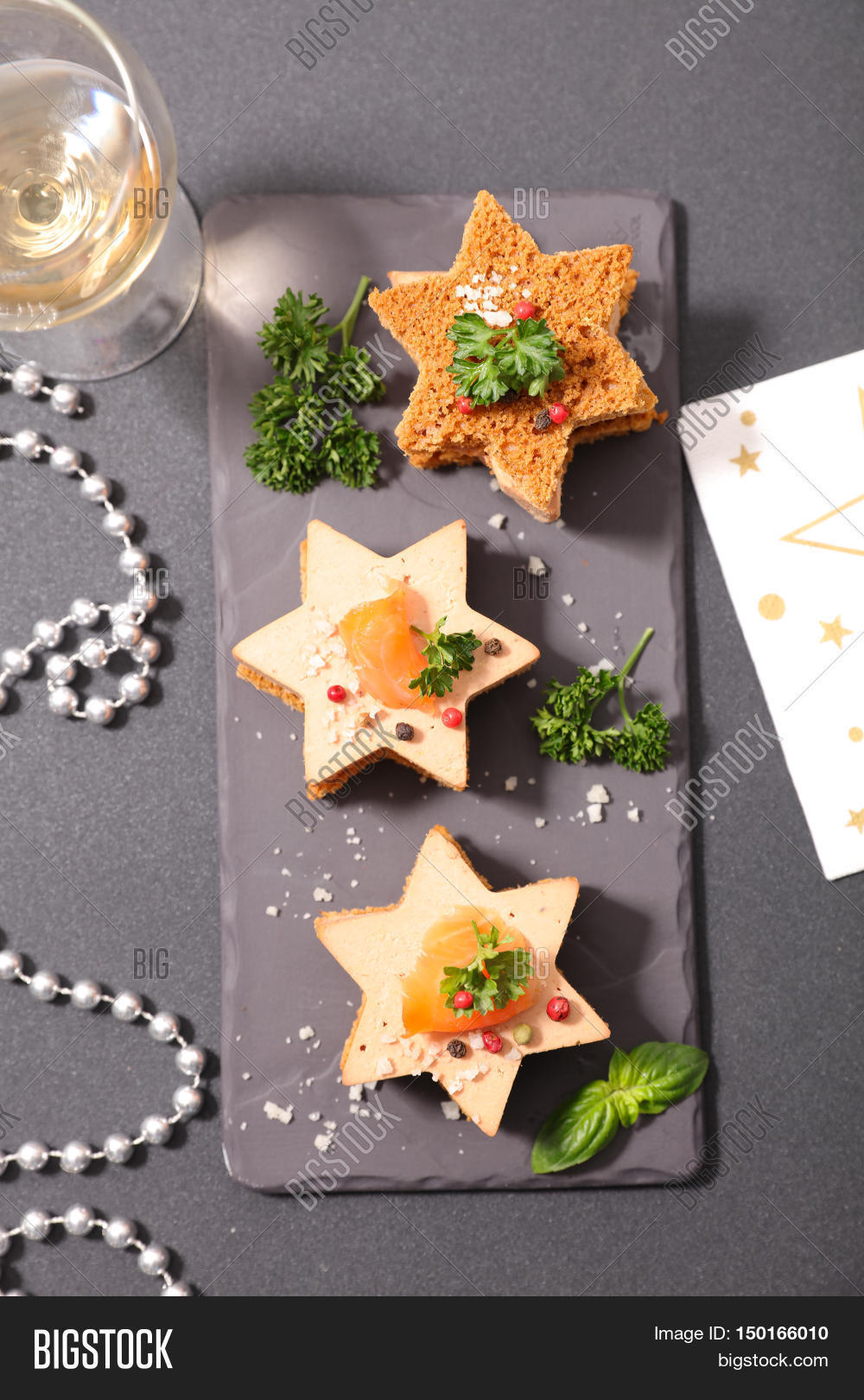 Christmas canape gingerbread foie image photo bigstock for Christmas canape