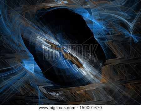 Abstract Fractal Fantastic Window Into The Unknown