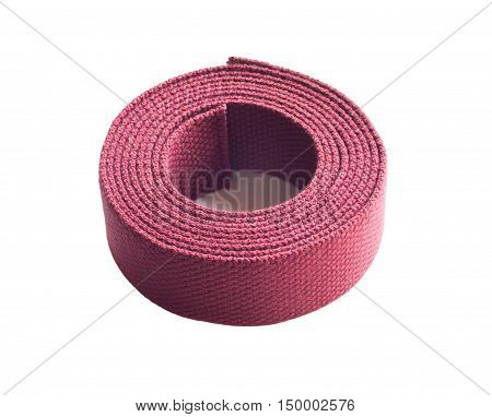 Hank Of Cotton Webbing Isolated On White Background