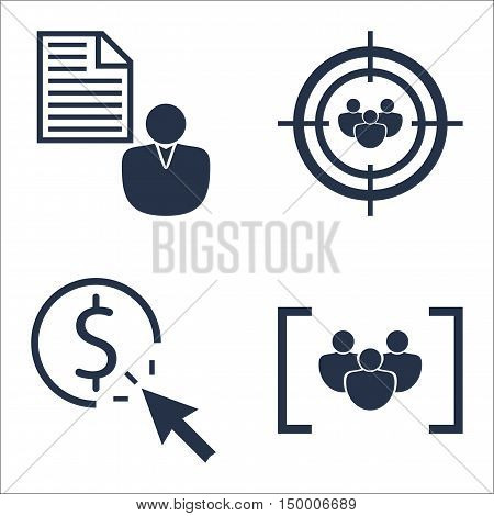 Set Of Seo, Marketing And Advertising Icons On Focus Group, Client Brief, Pay Per Click And More. Pr