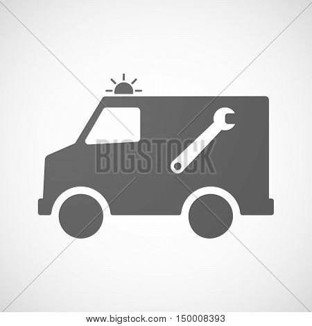 Isolated Ambulance Icon With A Spanner