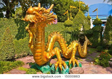 Golden Dragon In Park H
