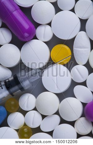 Medicine and healthy, Close up of capsules