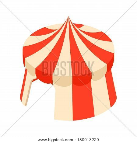 Circus tent icon in cartoon style isolated on white background. Amusement symbol vector illustration