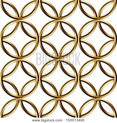 Template for decoration of gilded rings.Seamless image.