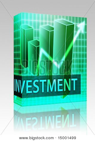Software package box Investment finances illustration of bar chart diagram
