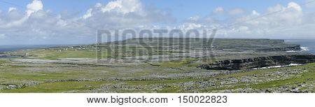 Panorama of Inishmore, the biggest of Aran Island, Galway Bay, Ireland, Europe