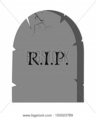 Halloween Creepy Scary Grave, Rip Vector Symbol Icon Design.