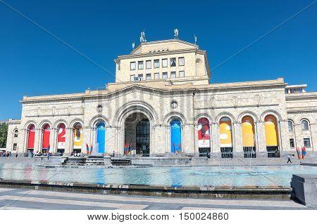 Yerevan. Armenia: Museum of History and National Gallery of Armenia Republic Square. horizontal photo.