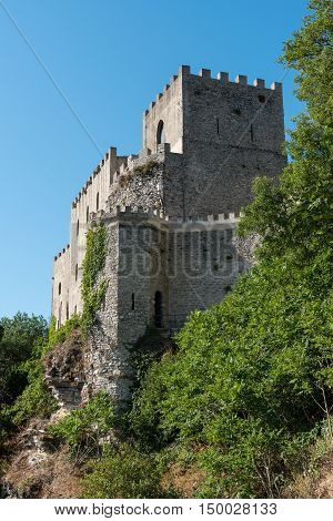 Tower of the castle in Erice, Sicily