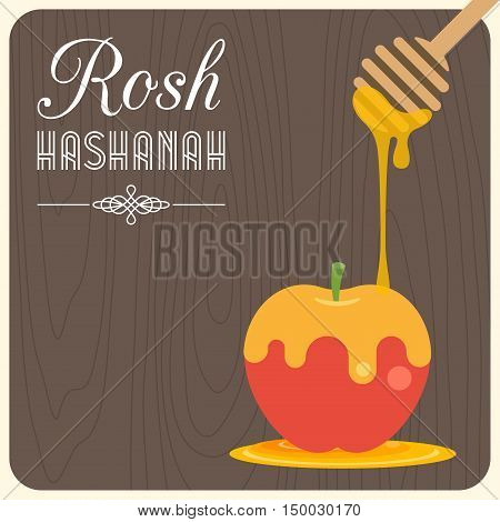 Jewish's new year poster and greeting card background, rosh hashana, shana tova