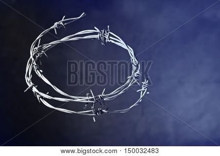 crown of thorns on the dark background