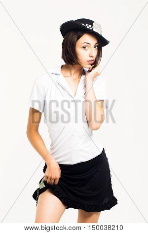 Pretty Woman In Police Uniform