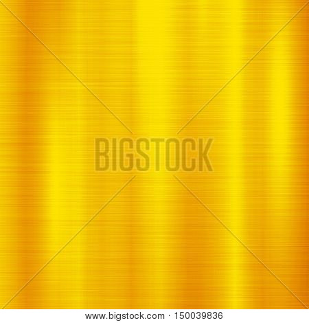 Gold metal technology background with polished, brushed metal texture, chrome, silver, steel, aluminum, copper for design concepts, web, prints, posters, interfaces. Vector illustration.