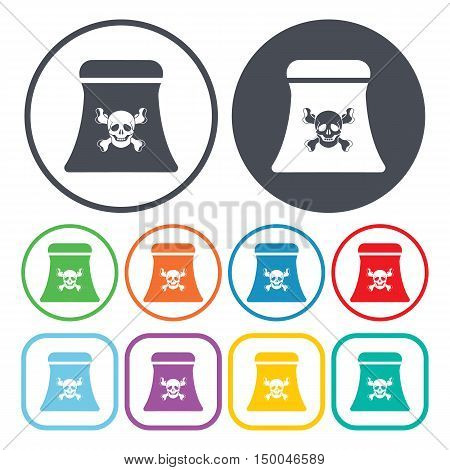 vector illustration of factory icon in simple style isolated on background. Stock vector symbol.