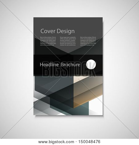 Cover design for Annual Report, Catalog or Magazine, Book or Brochure. Vector template with geometry elements.