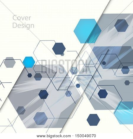 Abstract hexagon background for Business, Web Design, Cover template, Print, Presentation, Annual report.