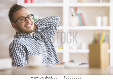 Portrait Of Attractive Caucasian Guy