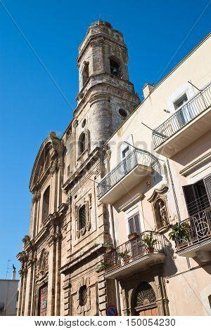 Church of St. Benedetto. Acquaviva delle fonti. Puglia. Italy.