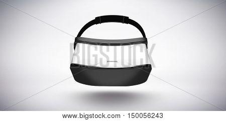 White virtual reality simulator against grey background