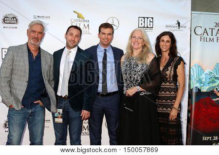 LOS ANGELES - SEP 30:  Michael Fossat, Roland Emmerich, Kohl Harrington, Dr. Barbara Royal, Dr. Natashally at the Catalina Film Festival at the Casino on September 30, 2016 in Avalon, CA