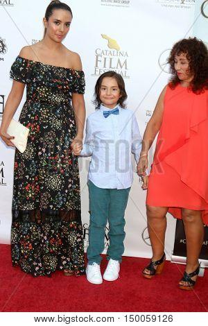 LOS ANGELES - OCT 1:  catalina Sandino Moreno, Lorenzo Corzo Sandino, Martha Moreno at the catalina Film Festival - Saturday at the Casino on October 1, 2016 in Avalon, catalina Island, CA