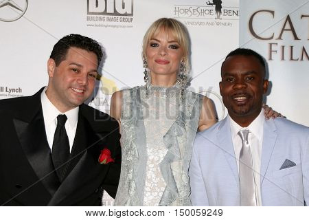 LOS ANGELES - OCT 1:  Ron Truppa, Jaime King, Delious Timothy Kennedy at the catalina Film Festival - Saturday at the Casino on October 1, 2016 in Avalon, catalina Island, CA