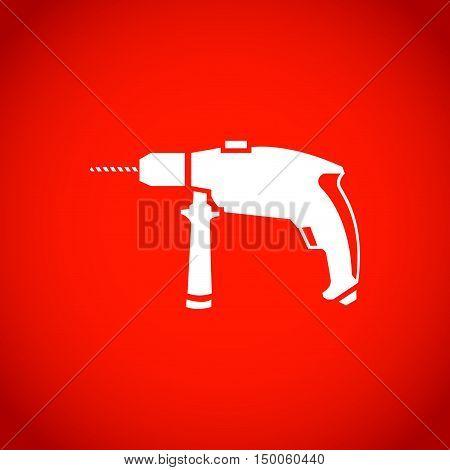 drill icon stock vector illustration flat design