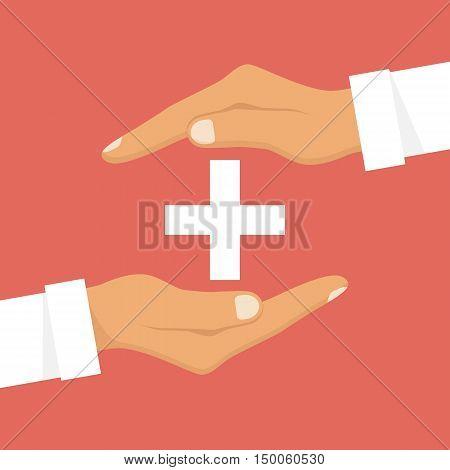 Medical Cross In Hands