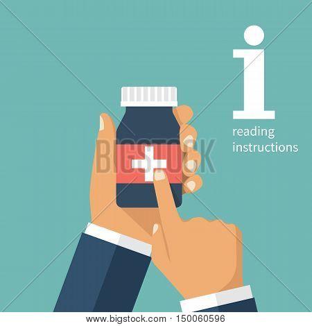 Bottle Of Pills In Hand.