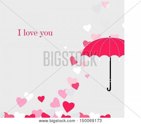 Umbrella and falling hearts. I love you.