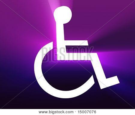 Handicap symbol illustration icon of wheelchair clipart