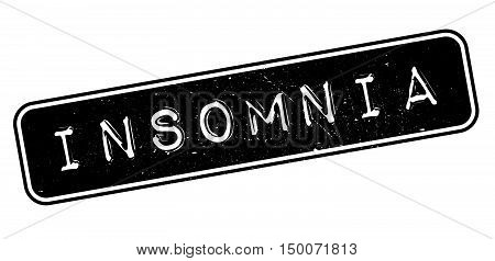 Insomnia Rubber Stamp