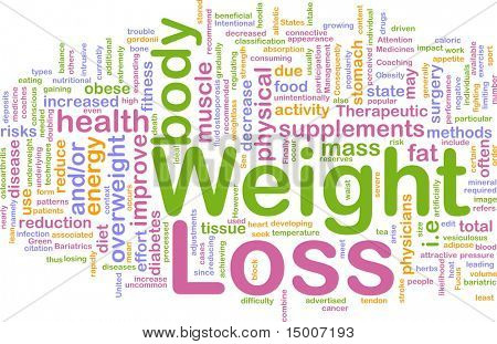 Background concept illustration of weight loss diet