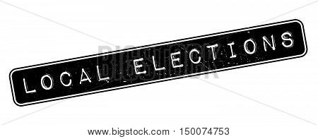Local Elections Rubber Stamp