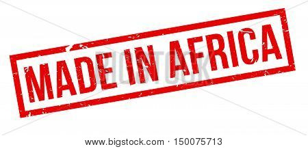 Made In Africa Rubber Stamp