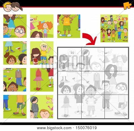 Jigsaw Puzzle Activity With Kids
