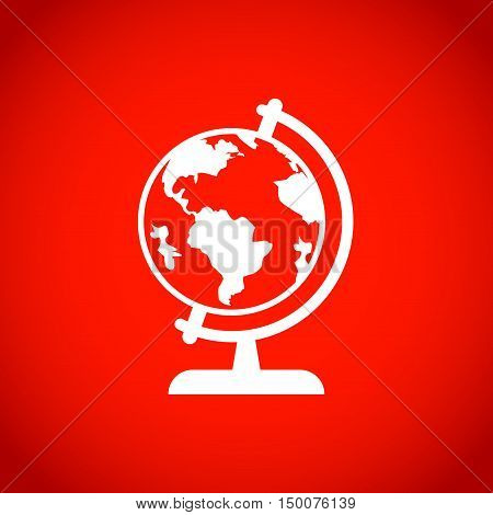 Earth globe icon stock vector illustration flat design