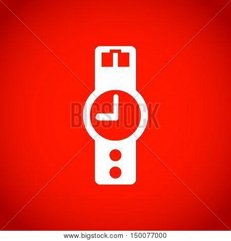 wristwatch icon  stock vector illustration flat design