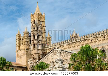 Metropolitan Cathedral of the Assumption of Virgin Mary in Palermo Sicily Italy