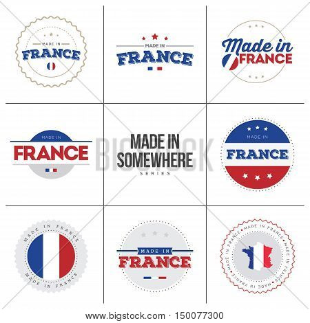 Made in France Vector Stickers and Labels