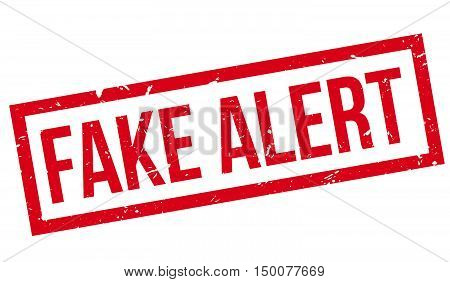 Fake Alert Rubber Stamp